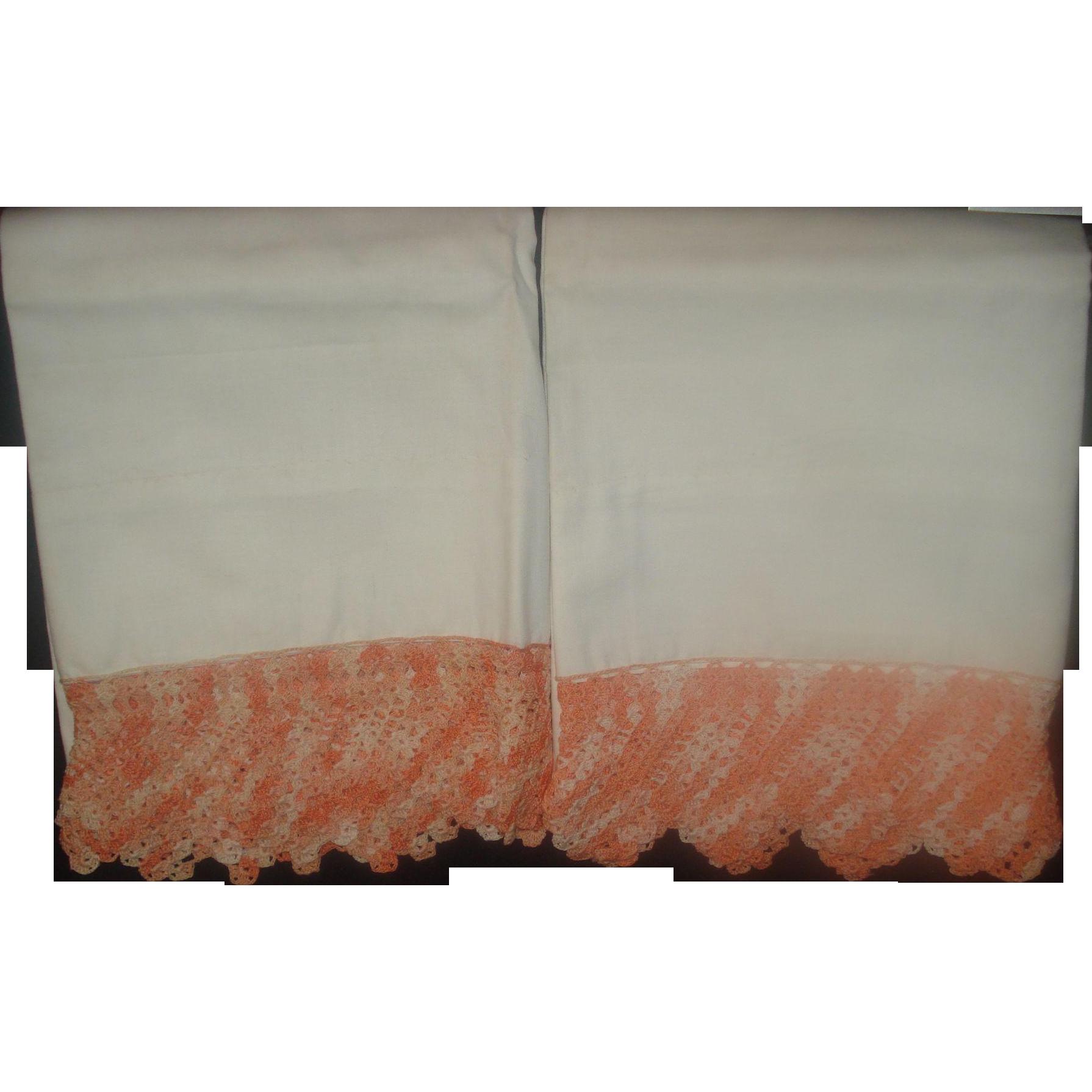 Vintage Crochet Handmade Cotton Pillow Cases