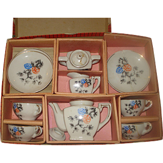 Vintage Child's Tea Set Original Box