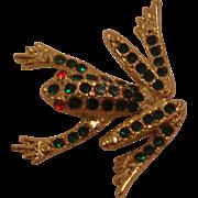 Costume Jewelry Frog Pin