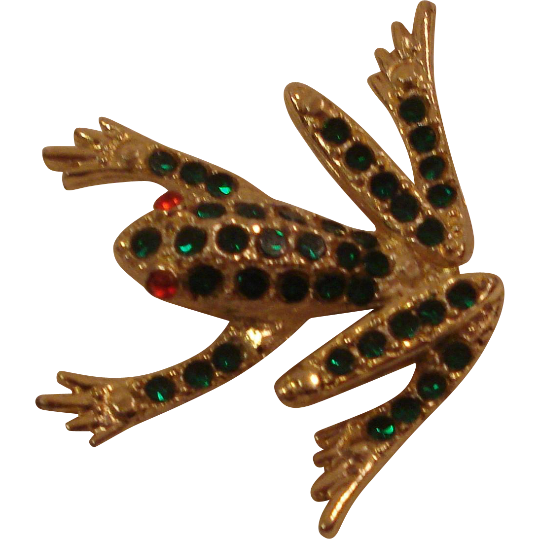 Costume Jewelry Frog Pin