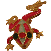 Costume Jewelry Pin Kramer Frog
