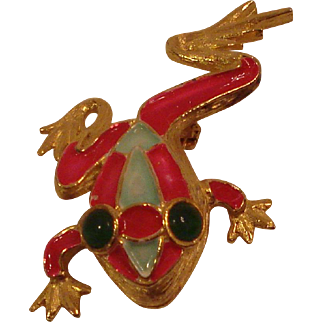Costume Jewelry Pin Kramer Frog