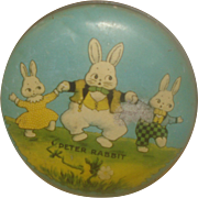 """Vintage Easter Candy Tin """"Peter Rabbit"""""""