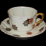 Limoges Porcelain Cup & Saucer Shreve Co.  California