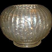 Persian Medallion White Carnival Glass Rose Bowl