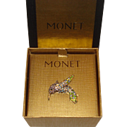 Monet Hummingbird Pin with Original Box