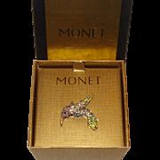 Monet Hummingbird Pin with Original Box