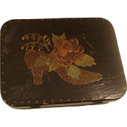 Toleware  Painted Metal Box