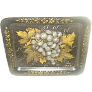 Vintage Toleware Tray with Grapes