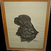 Vintage Cocker Spaniel Print - Gladys Emerson Cook