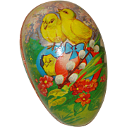 Paper Mache Easter Egg with Chicks