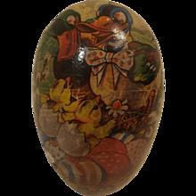 Vintage Paper Mache Easter Egg