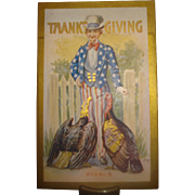 Thanksgiving Postcard with Uncle Sam Patriotic