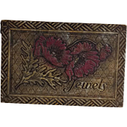 Flemish Art Pyrography Jewelry Box