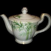 Noritake Porcelain Bamboo Tea Pot