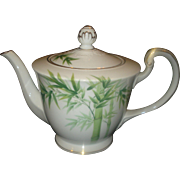 Noritake Porcelain Bamboo Tea Pot