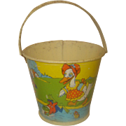 Vintage Childs Metal Candy Pail Stover Candy