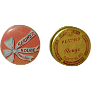 Two Vintage Heather Rouge Tins