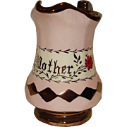 "Copper Luster ""Mother"" Pitcher"