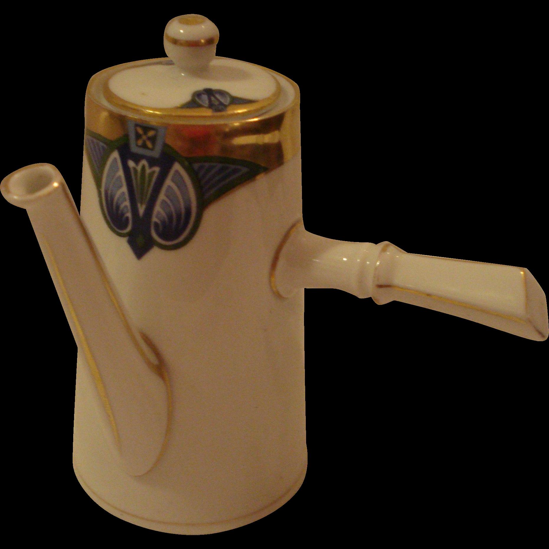 M Z Austria Porcelain Chocolate Pot