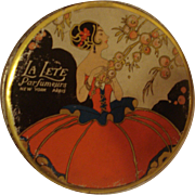 Vintage Powder Tin La Lete