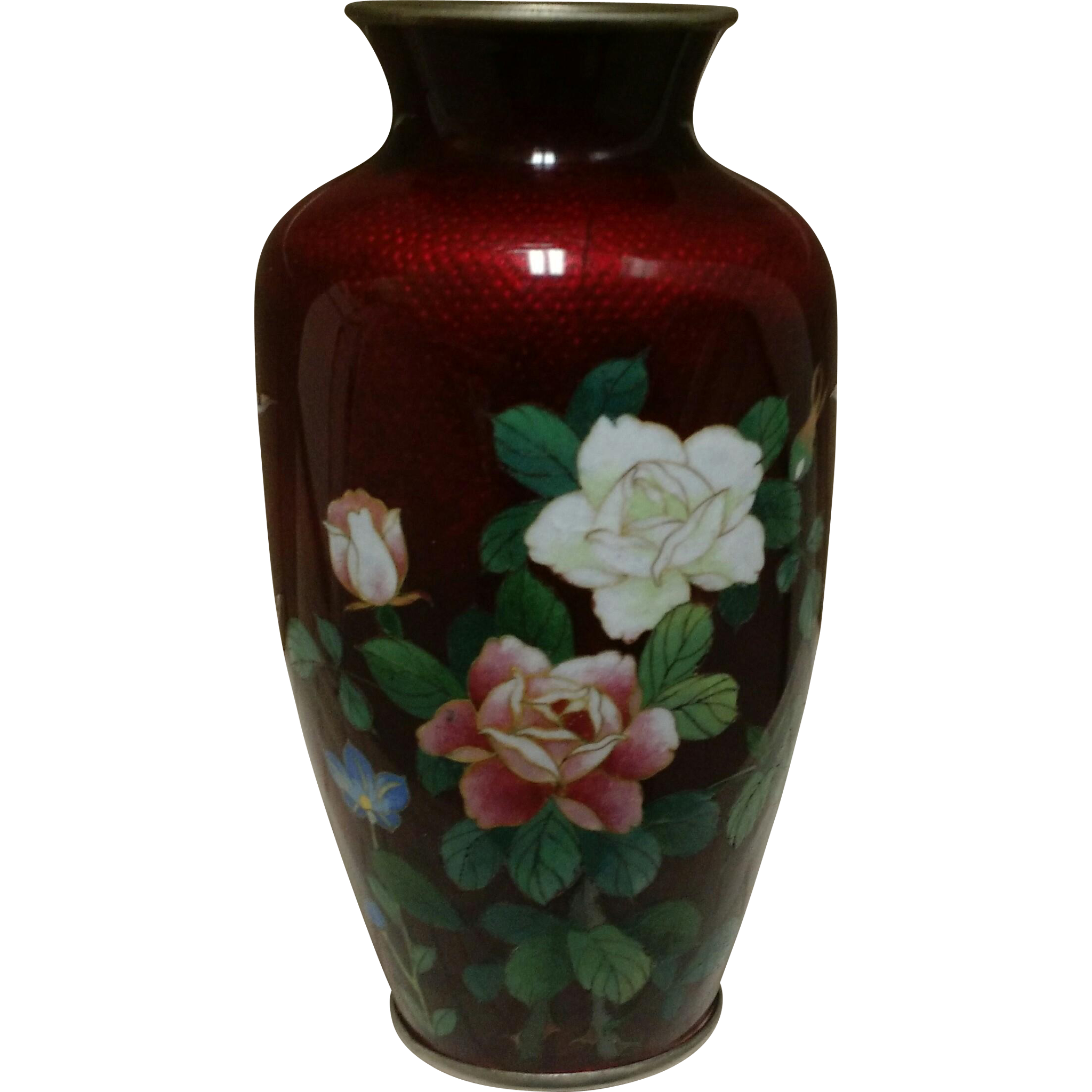 Pigeon Blood Cloisonné Vase