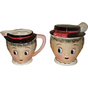 Py Porcelain Gay 90s Sugar & Creamer