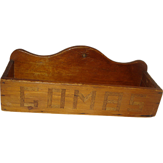 Nice Early Wood Comb Case / Box