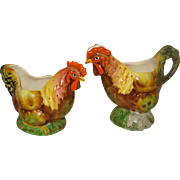 Royal Winton Rooster Gravy  Boats