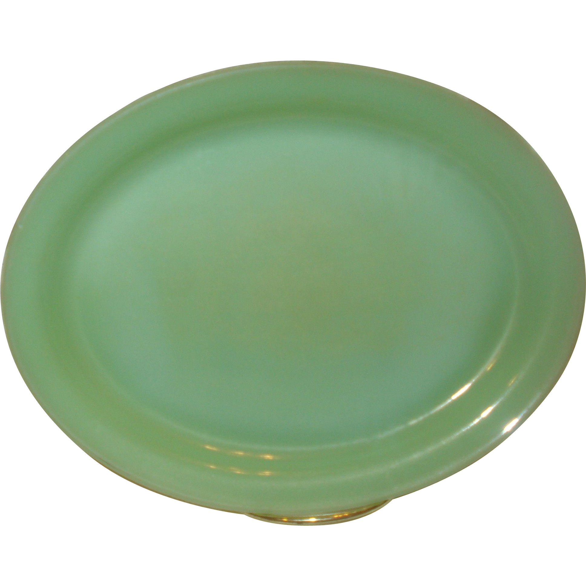 Nice Oval Jadite Platter - Hard to Find Shape & Size