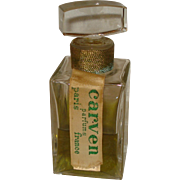 Vintage Carven Perfume Bottle France