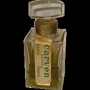 Vintage Carven Perfume Bottle France