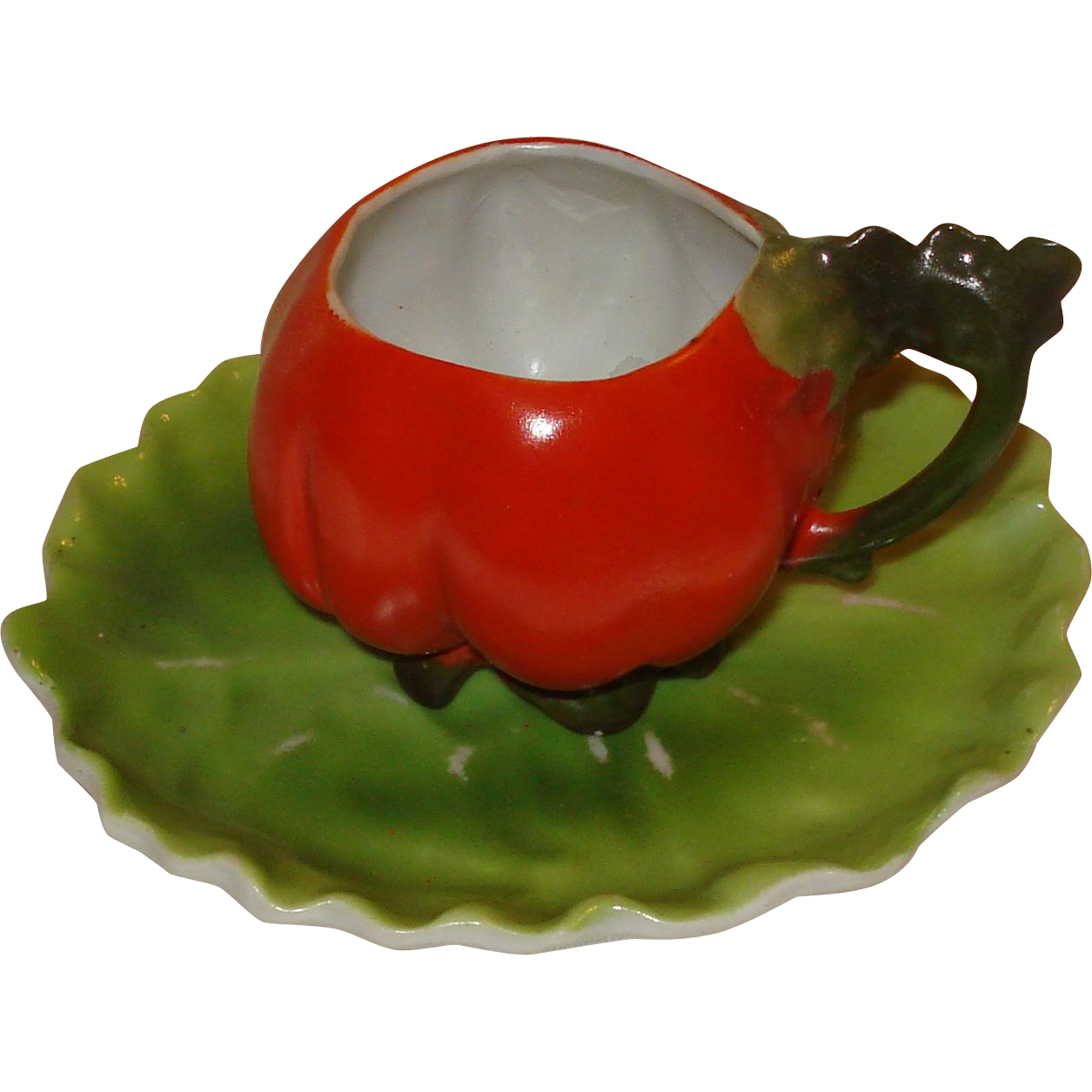Royal Bayreuth Tomato Demi with Lettuce Leaf Plate
