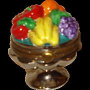 Limoges Porcelain Trinket Box with Fruit
