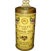 Vintage Powder Tin Violet Almond Meal Richard Hudnut