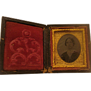 Small Tin type Photo Daguerreotype