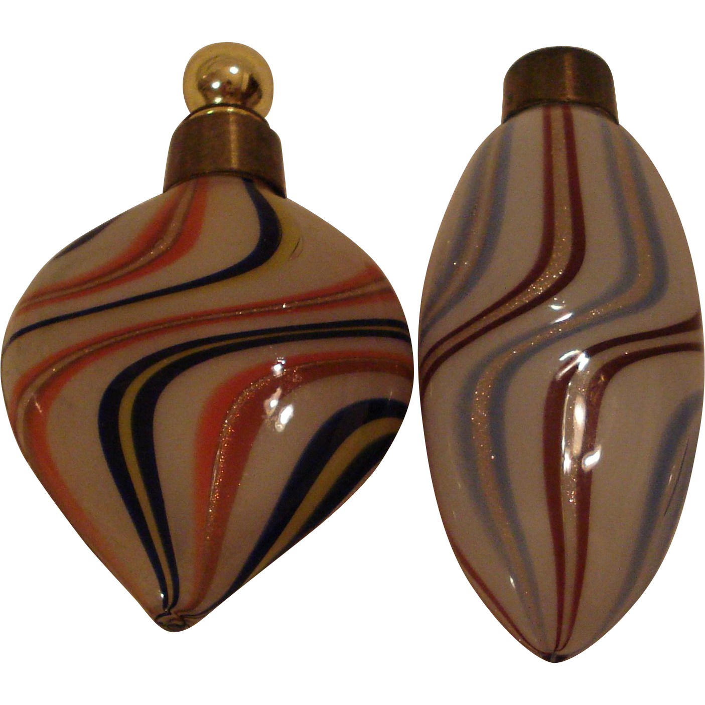 German Lutz Glass Perfume Bottles