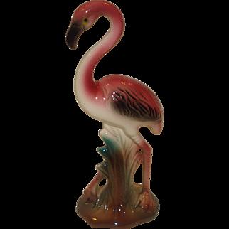 Vintage Pink Flamingo Statue Figurine