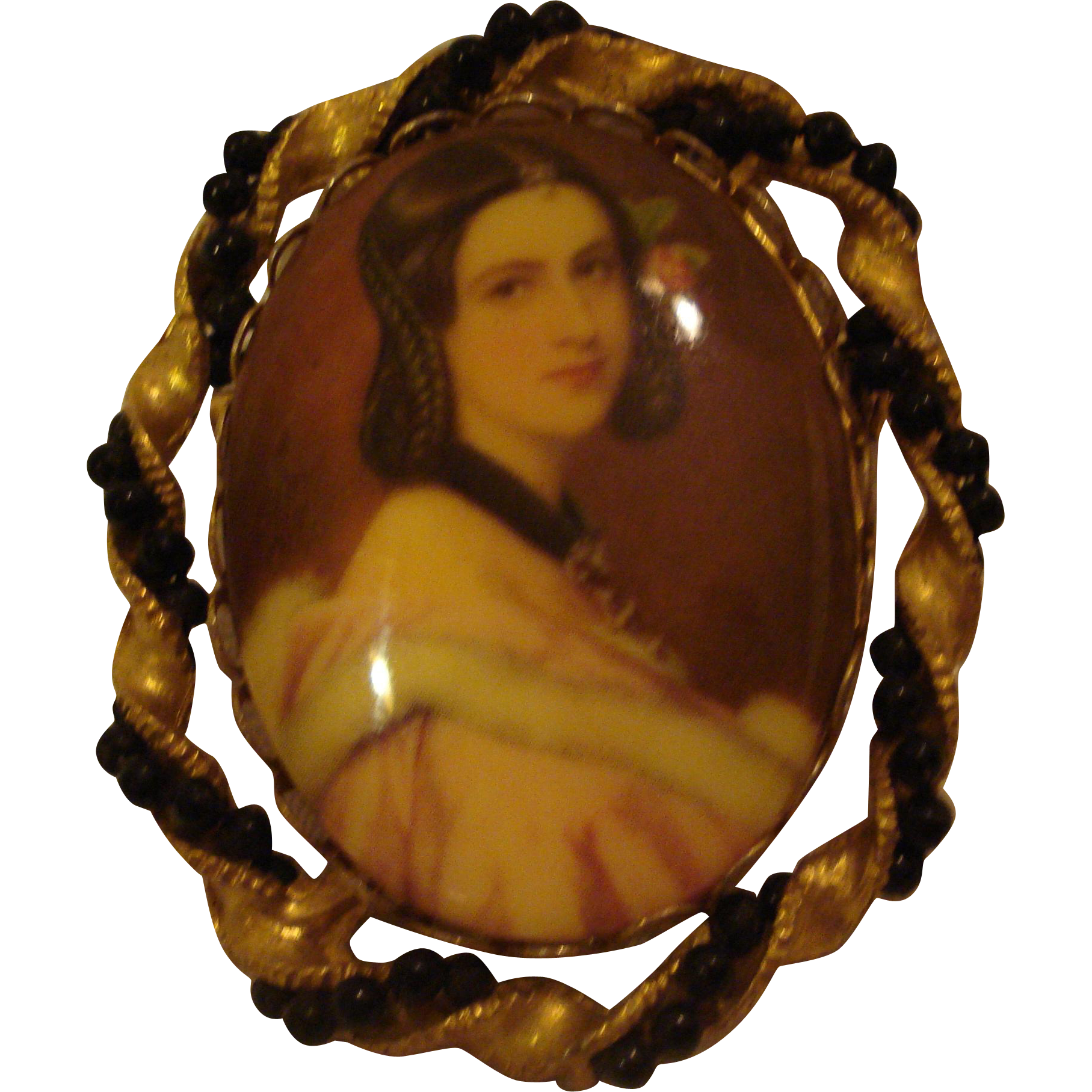 Vintage Portrait Pin