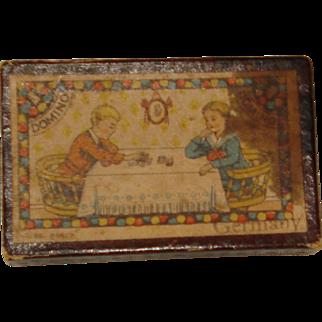 Vintage Child's Dominoe Game Original Box