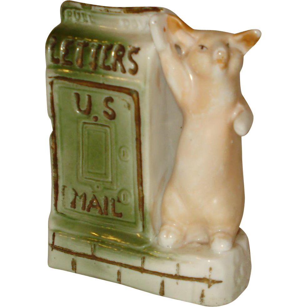 German Pig U. S. Mail Souvenir San Jose California
