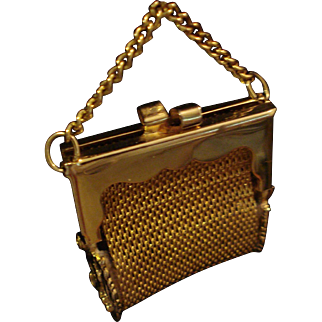Adorable Doll Size  ~Vintage Child's Size Miniature Metal Mesh Purse