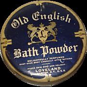 Vintage Old English Bath Powder Tin Binghamton, NY