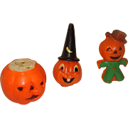 Set of 3 Vintage Gurley Halloween Candles