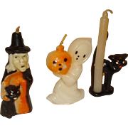 3 Vintage Gurley Halloween Candles