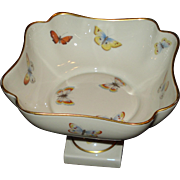 Limoges Porcelain Butterfly Compote