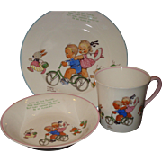 Vintage 3 Piece Set Shelley Children's Dishes