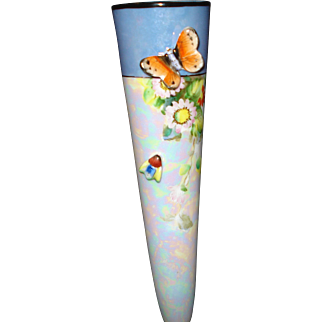 Noritake Wall Pocket with Butterfly