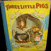 Vintage Book Three Little Pigs
