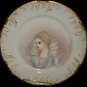 Limoges Porcelain Portrait Plate